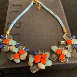 J Crew Blue Orange Rope Necklace